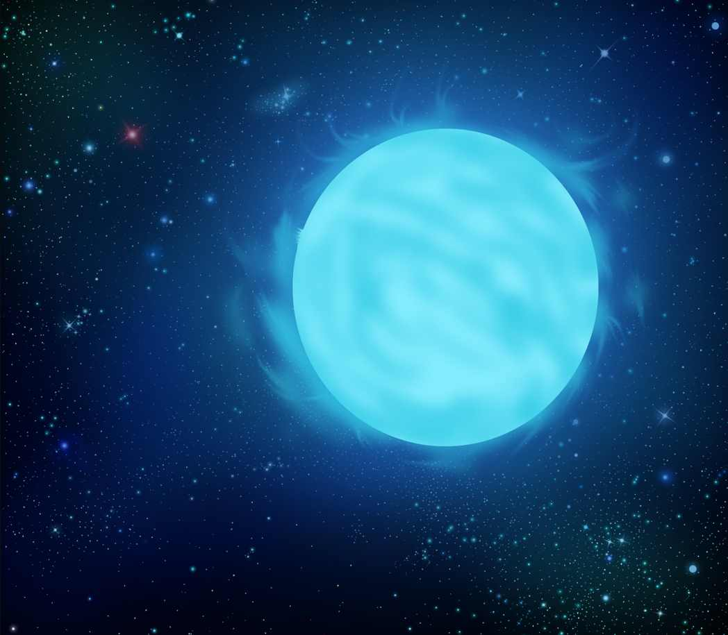 R136a1 - an artist's impression - the most massive star ever known