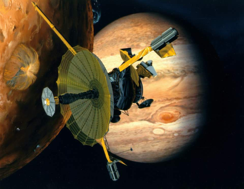 Artist conception of Galileo spacecraft