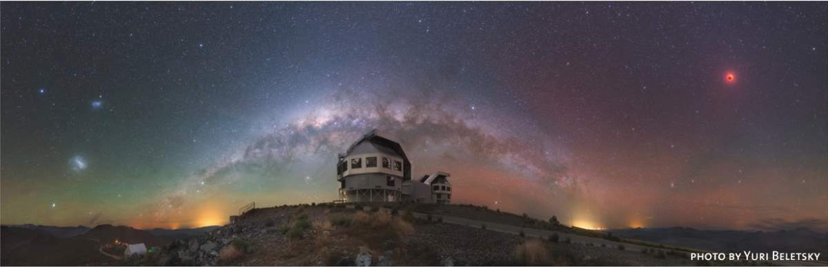 Milky Way from Las Campanas Observatory. Photo by Yuri Beletsky