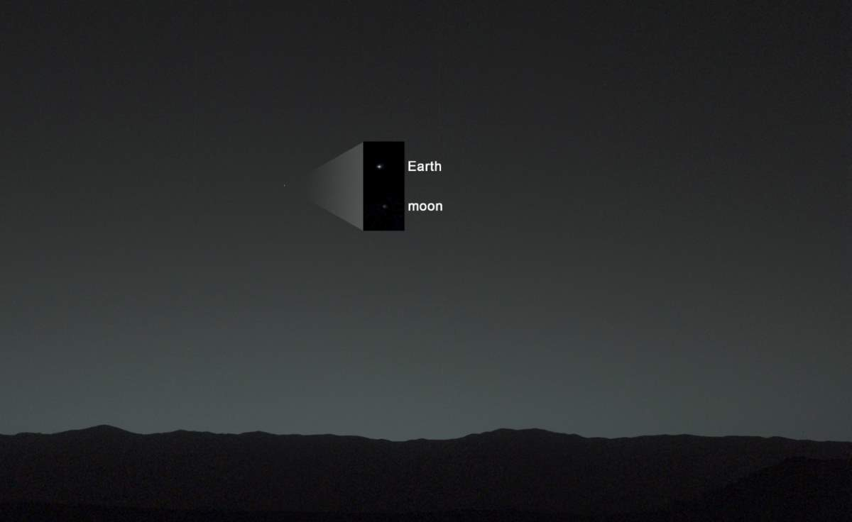 PIA17936: Earth from Mars by the Curiosity Rover (January 31, 2014), Annotated version 2