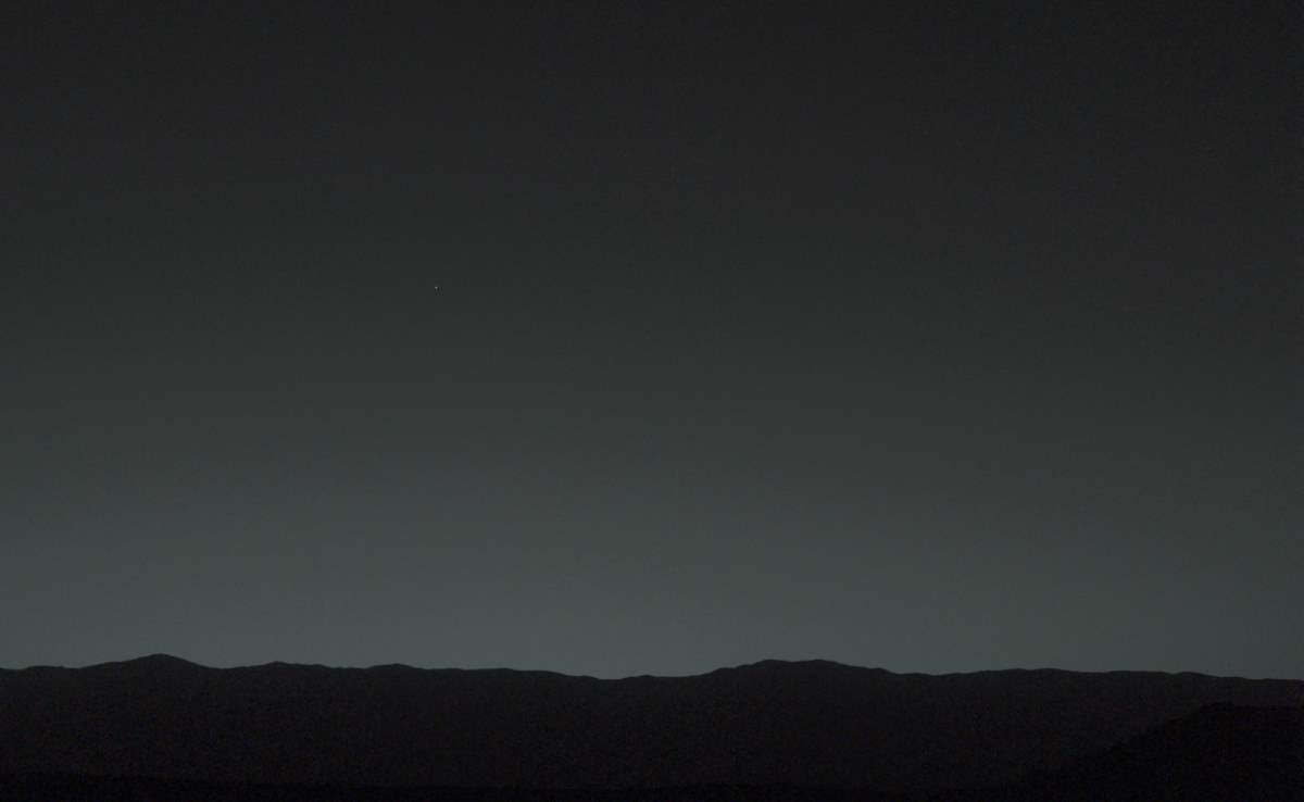 Earth from Mars by the Curiosity Rover (January 31, 2014)