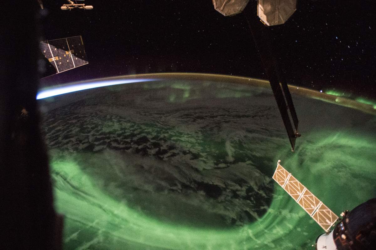 Top 10 Most Beautiful Earth Photos Taken From the International Space Station in 2018: The Aurora and the Sunrise. April 11, 2018.