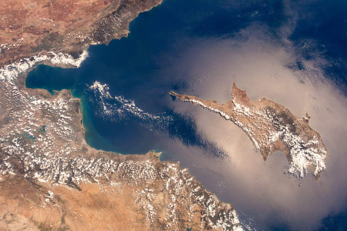 Top 10 Most Beautiful Earth Photos Taken From the International Space Station in 2018: Cyprus and the East Mediterranean. October 8, 2018.