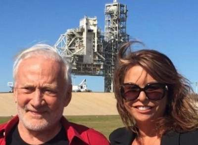 Linn LeBlanc with Buzz Aldrin