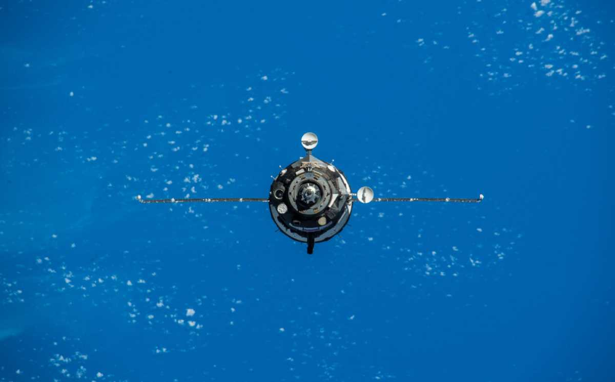 Soyuz MS-11 approaching to the ISS. December 3, 2018.
