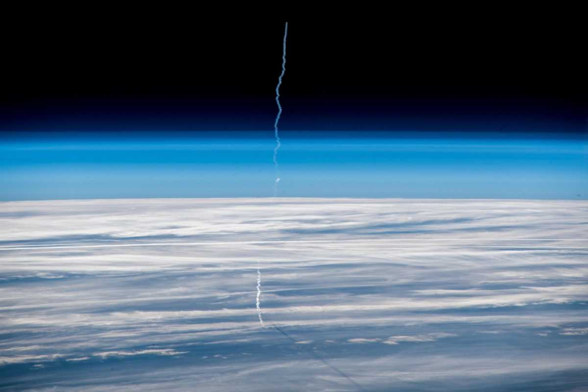 Soyuz MS-11 Launch from the ISS, December 3, 2018