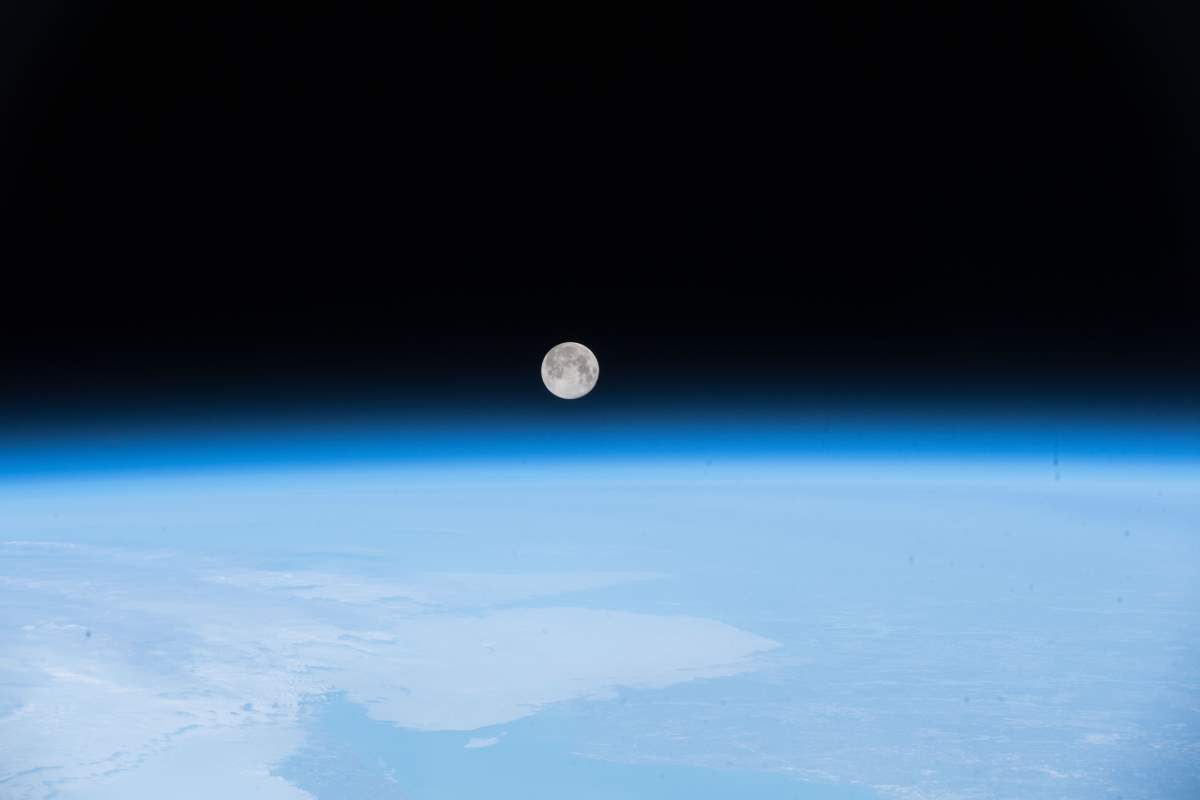 Top 10 Most Beautiful Earth Photos Taken From the International Space Station in 2018: Full Moon Over Newfoundland