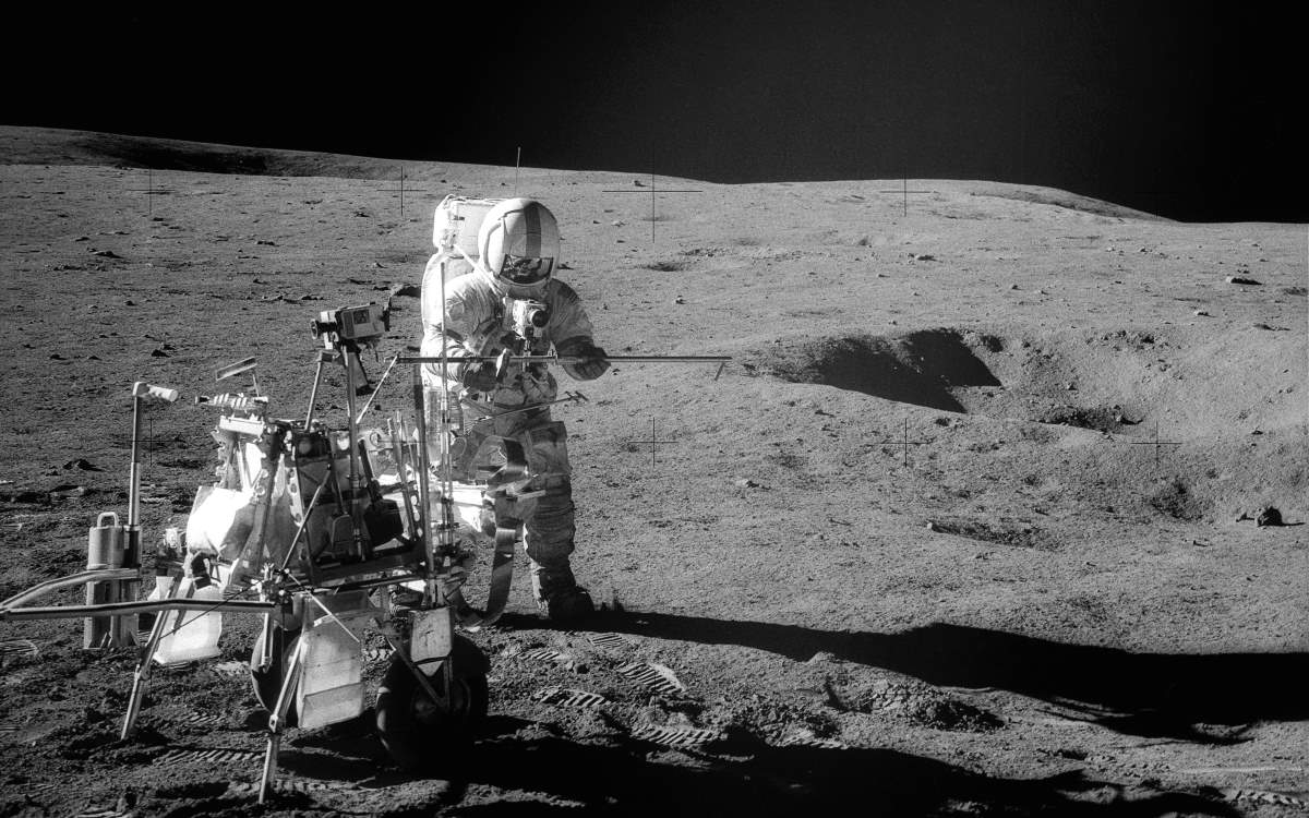 Apollo 14 Commander Alan B. Shepard on the Moon