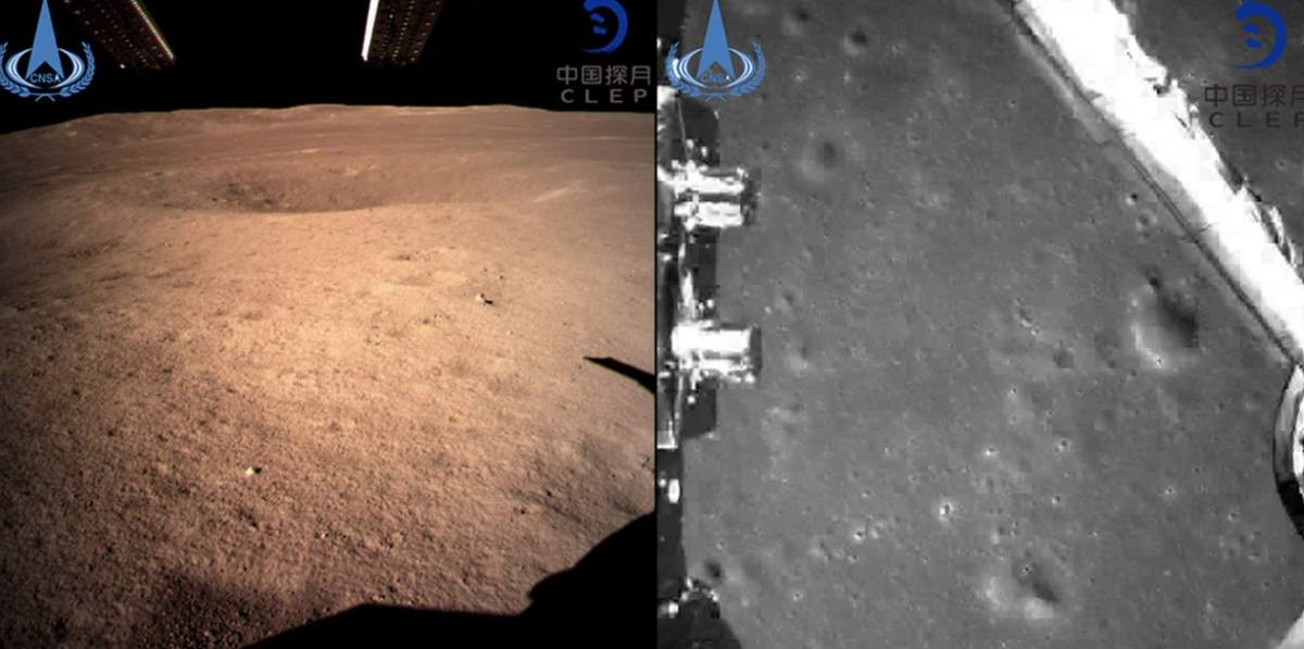 The first photos from the Chang'e 4 lunar lander and rover