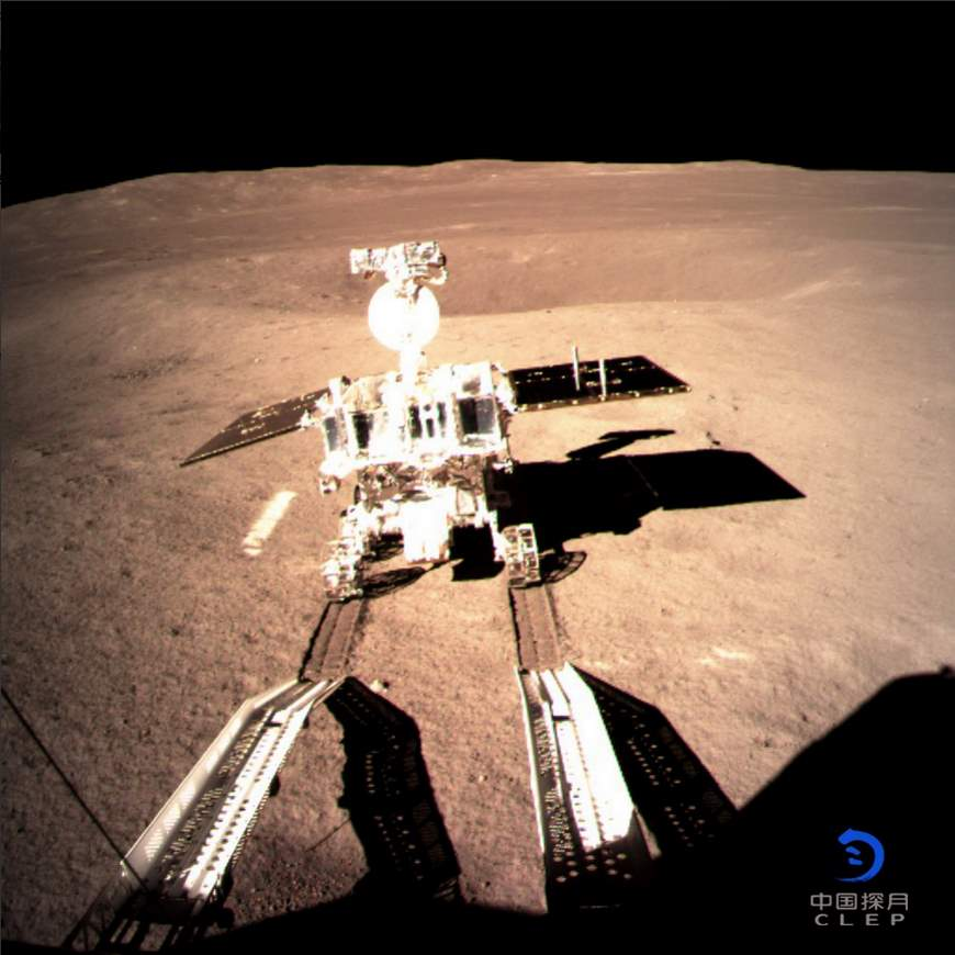 Top 20 Exciting Advances in Space Science in the 2010s: First selfie of Chang'e 4 from the far side of the moon