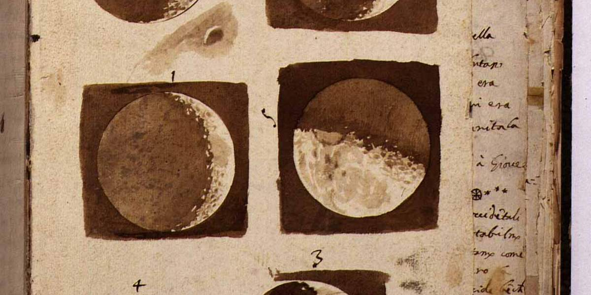 Galileo Galilei's Moon Drawings (cropped)