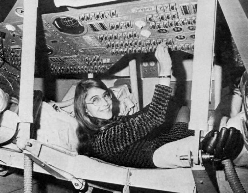 Margaret Hamilton testing the Apollo software