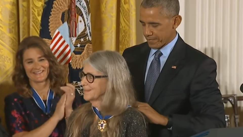Margaret Hamilton receives the Presidential Medal of Freedom