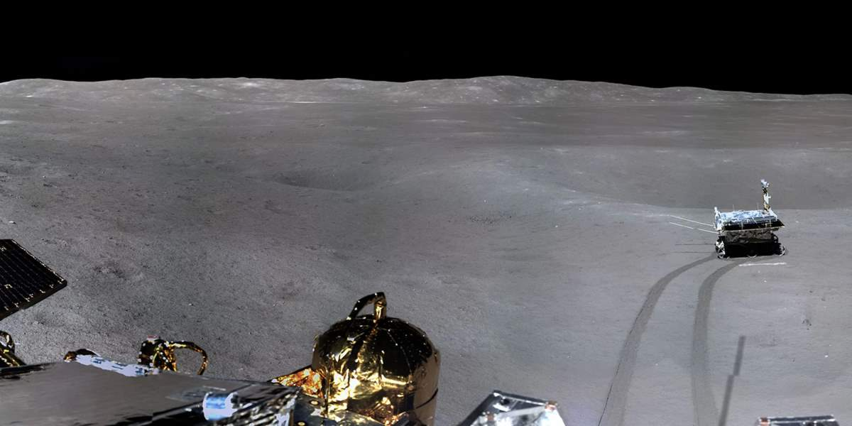 Panorama of the far side of the moon (cropped)