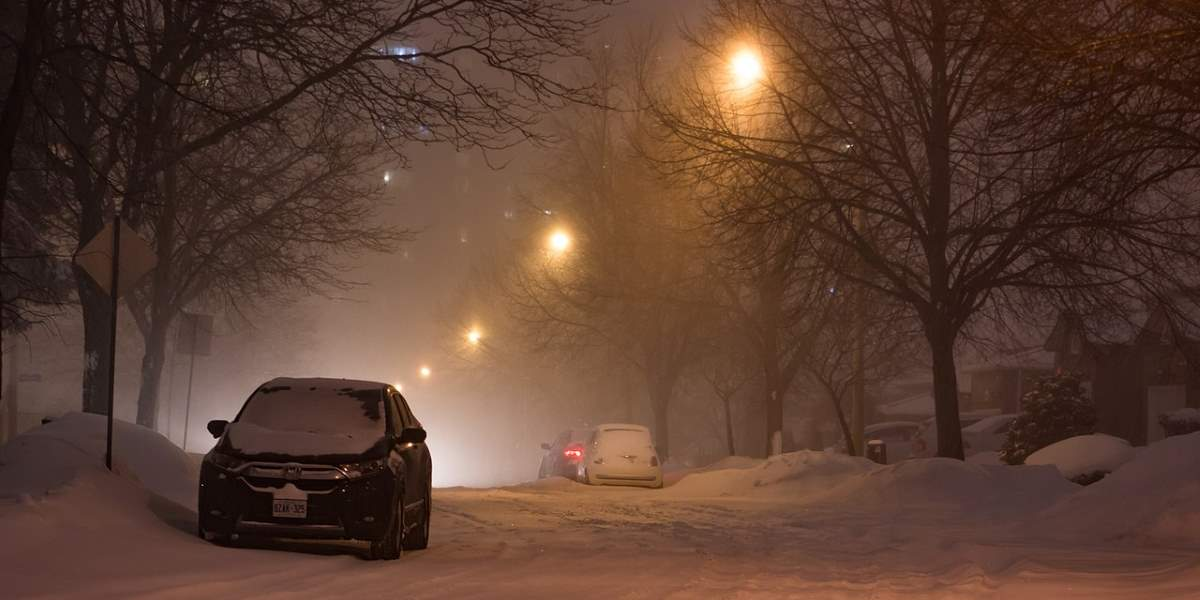 Snow storm in Toronto in January 2019