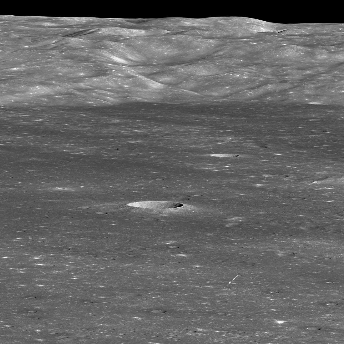 Chang'e-4 from LRO (January 30, 2019)