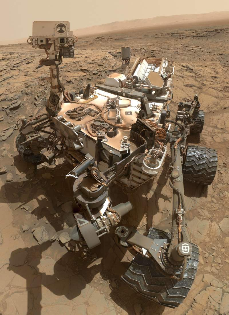 Curiosity Mars rover self portrait
