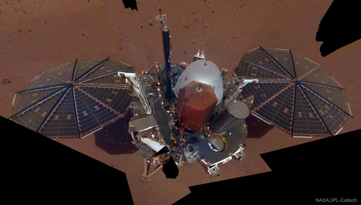 Top 20 Exciting Advances in Space Science in the 2010s: InSight Lander Selfie