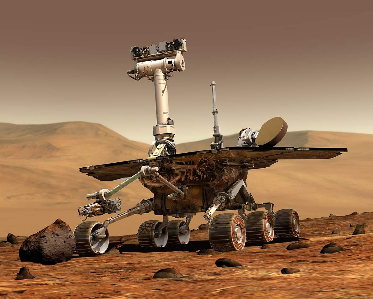 Out-of-this-world driving distances. Opportunity Mars rover - artist conception