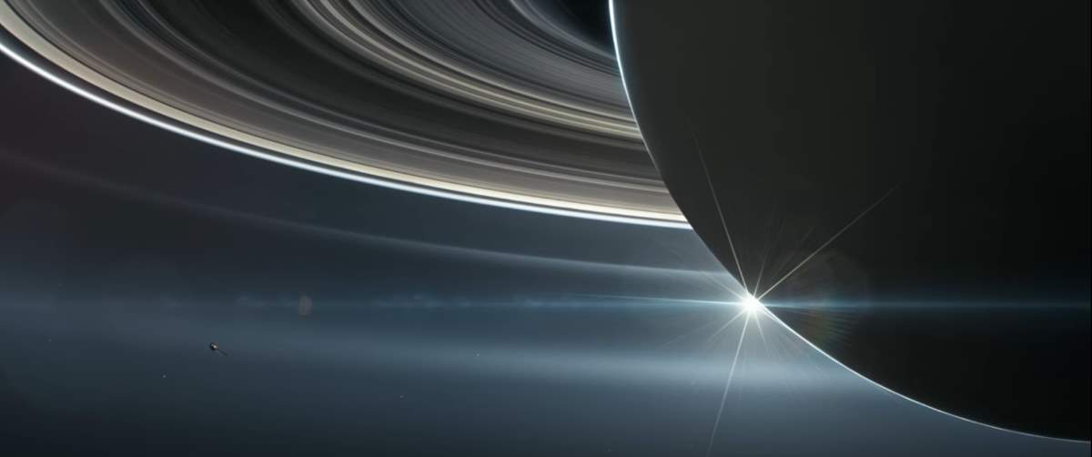 Cassini Spacecraft, Sun and Saturn