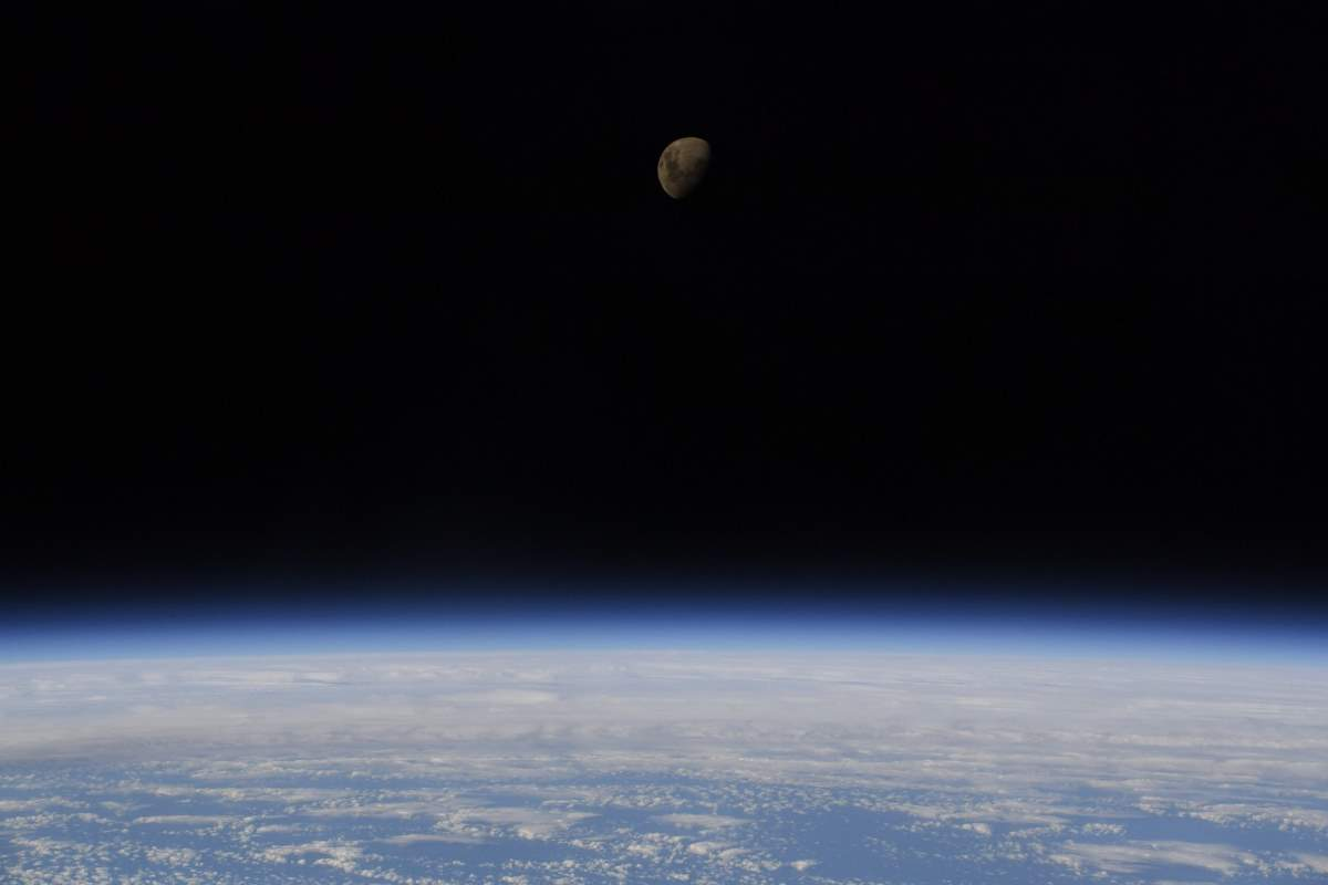 Earth and moon from the ISS (Photo: Nick Hague)