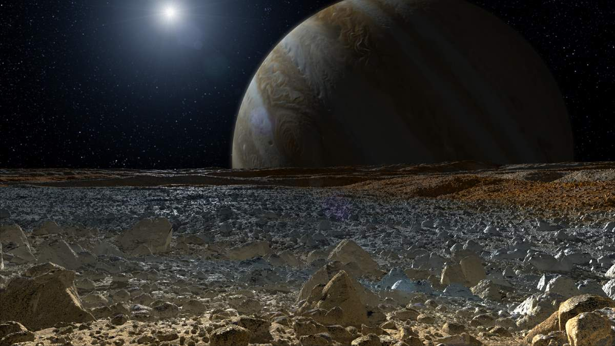 A view from Europa's surface - artist conception