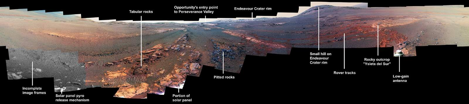 Opportunity Parting Mars Panorama (annotated)