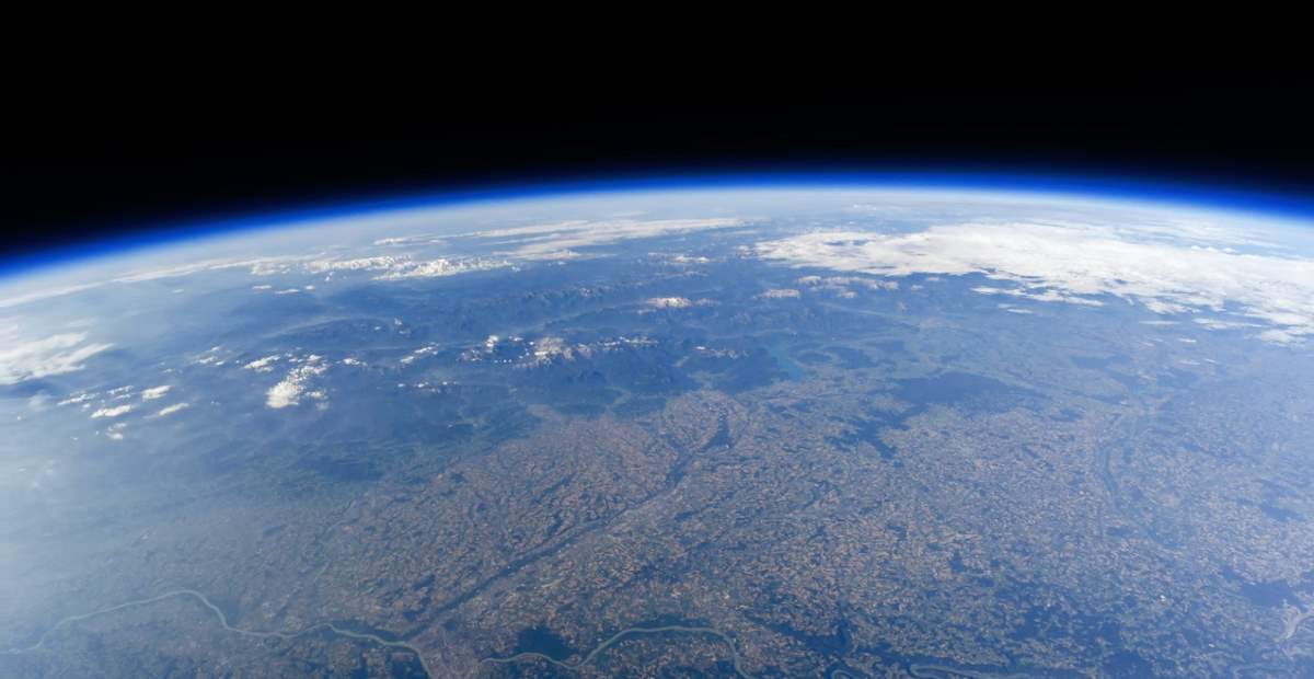Earth from a weather balloon