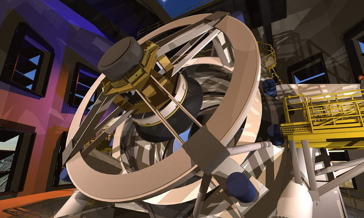 An artist's conception of the primary mirror of the Large Synoptic Survey Telescope (LSST)
