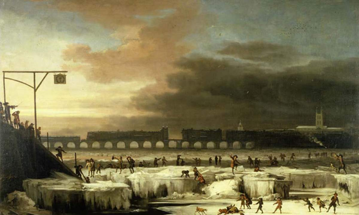 Little Ice Age. The Frozen Thames.