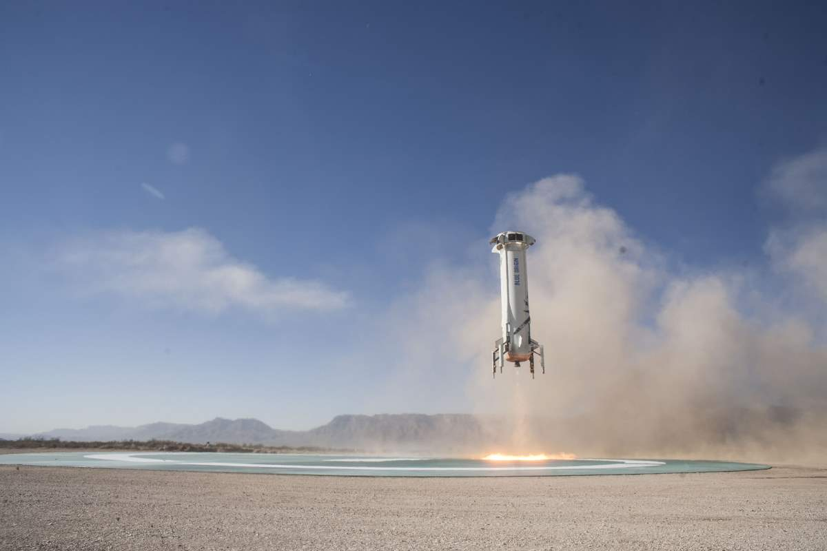 Going to Space to benefit Earth: New Shepard rocket landing on December 12, 2017