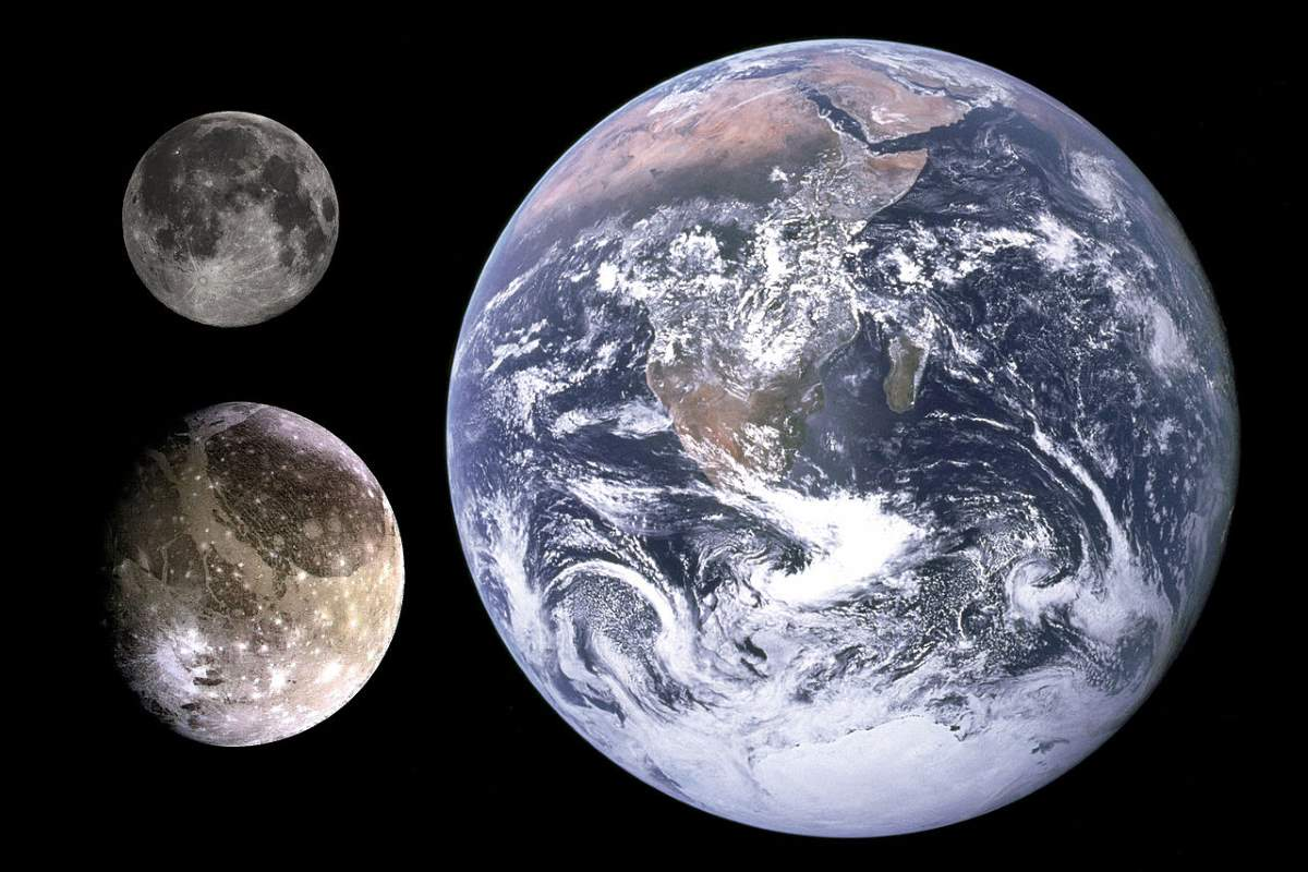 Lesser-known space facts: Earth-Ganymede-Moon size comparison
