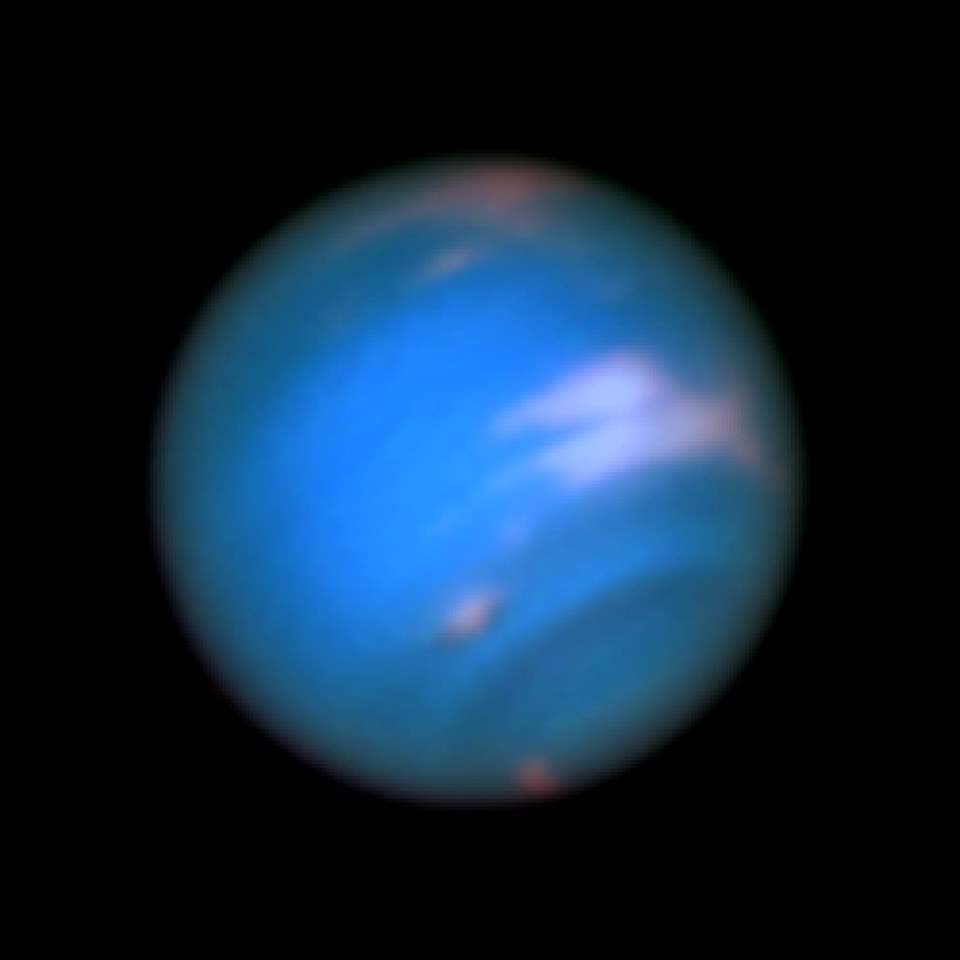 Neptune photo by the Hubble Space Telescope (2016)