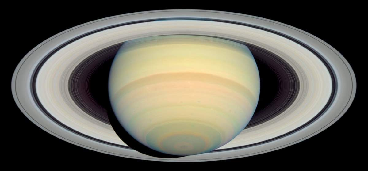Saturn photo by Hubble Space Telescope (March 22, 2004)