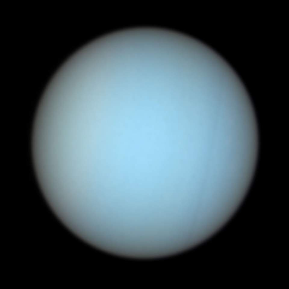 Uranus photo by the Hubble Space Telescope (2004)