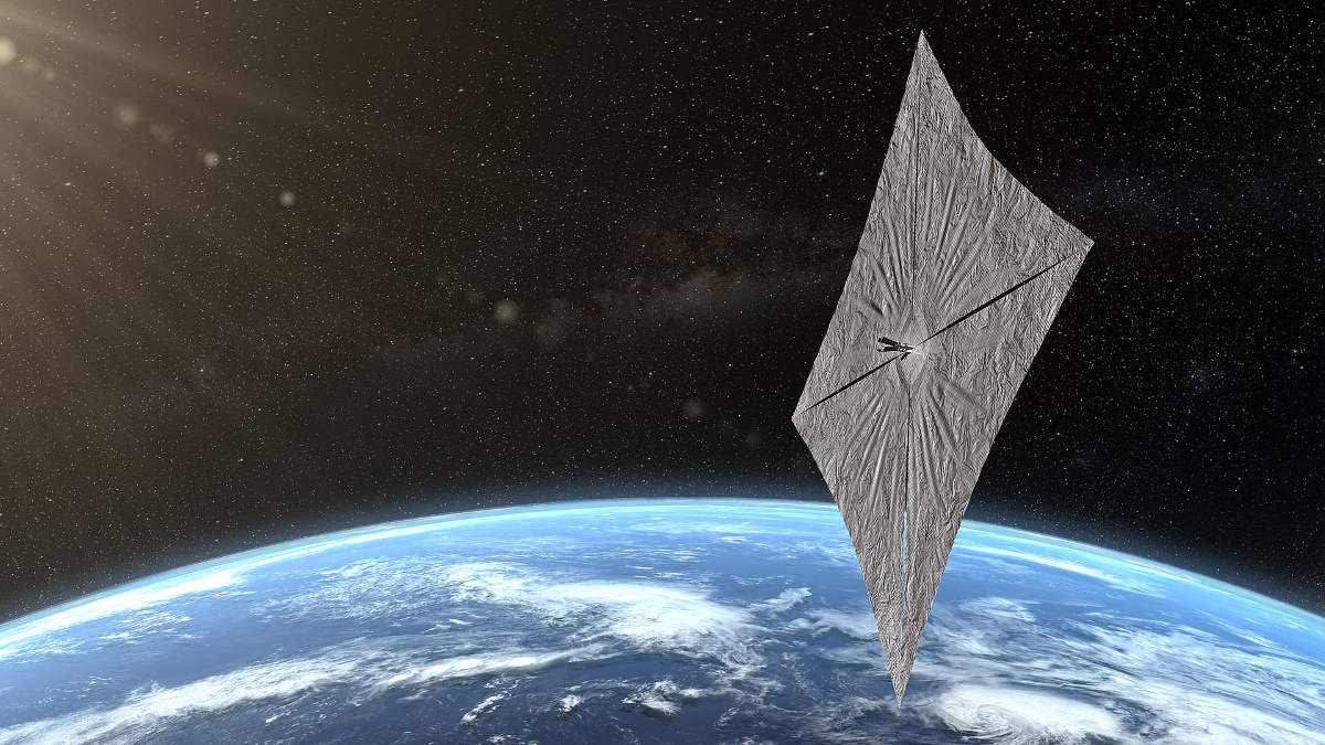 LightSail orbiting the Earth - artist conception