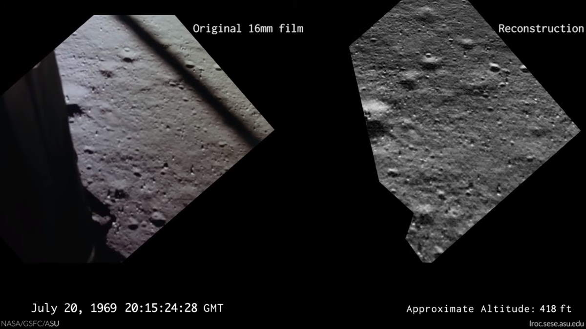 Lunar landing video reconstruction (screenshot)