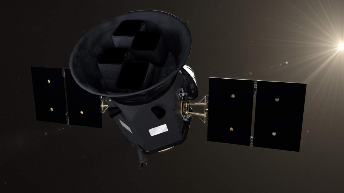Artist concept of TESS (Transiting Exoplanet Survey Satellite)