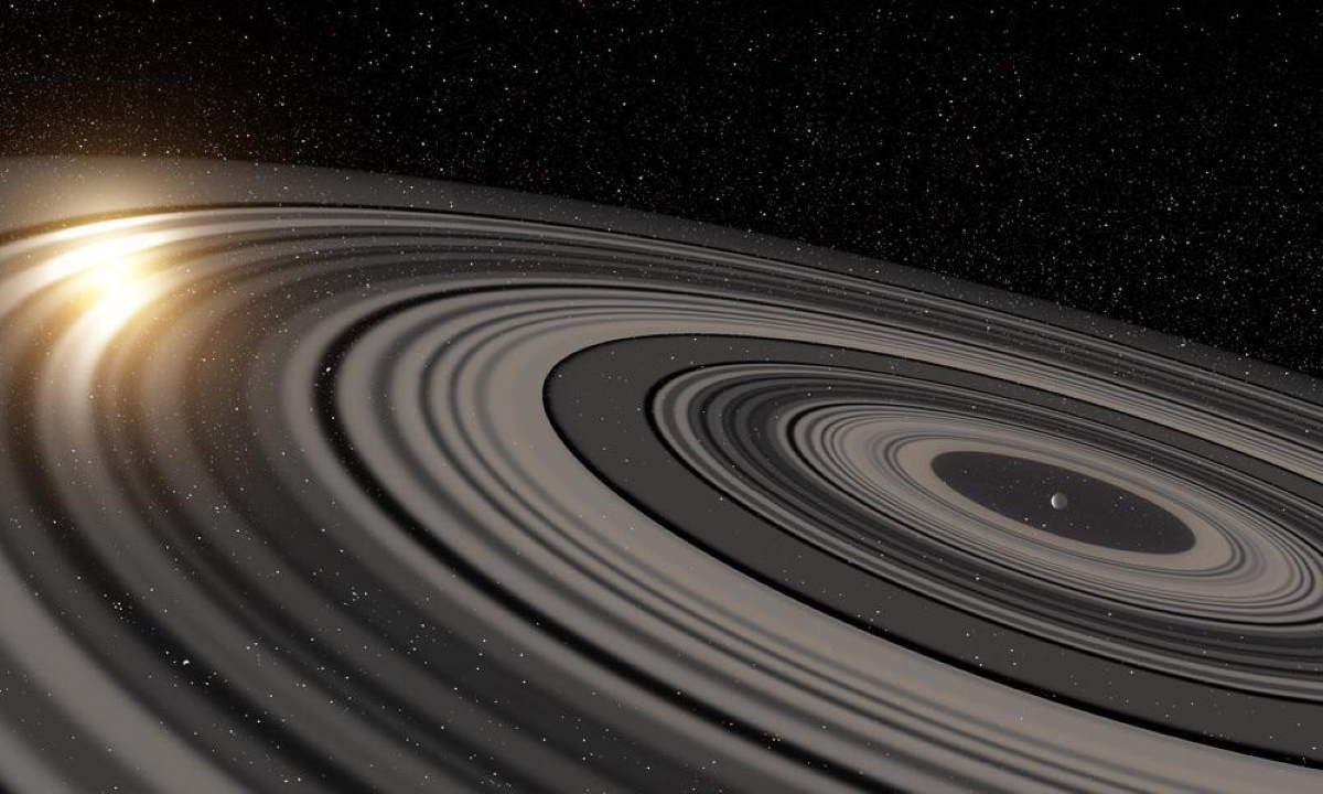 Exoplanet J1407b and its rings