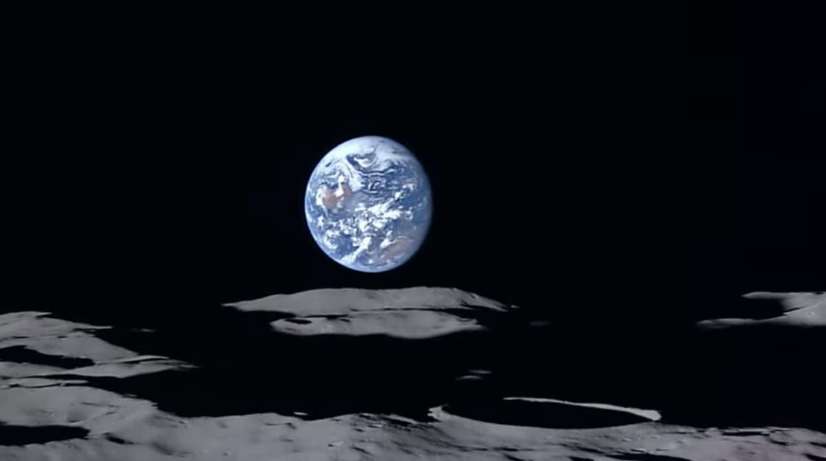 Earth from the Japanese Moon orbiter SELENE (Kaguya)