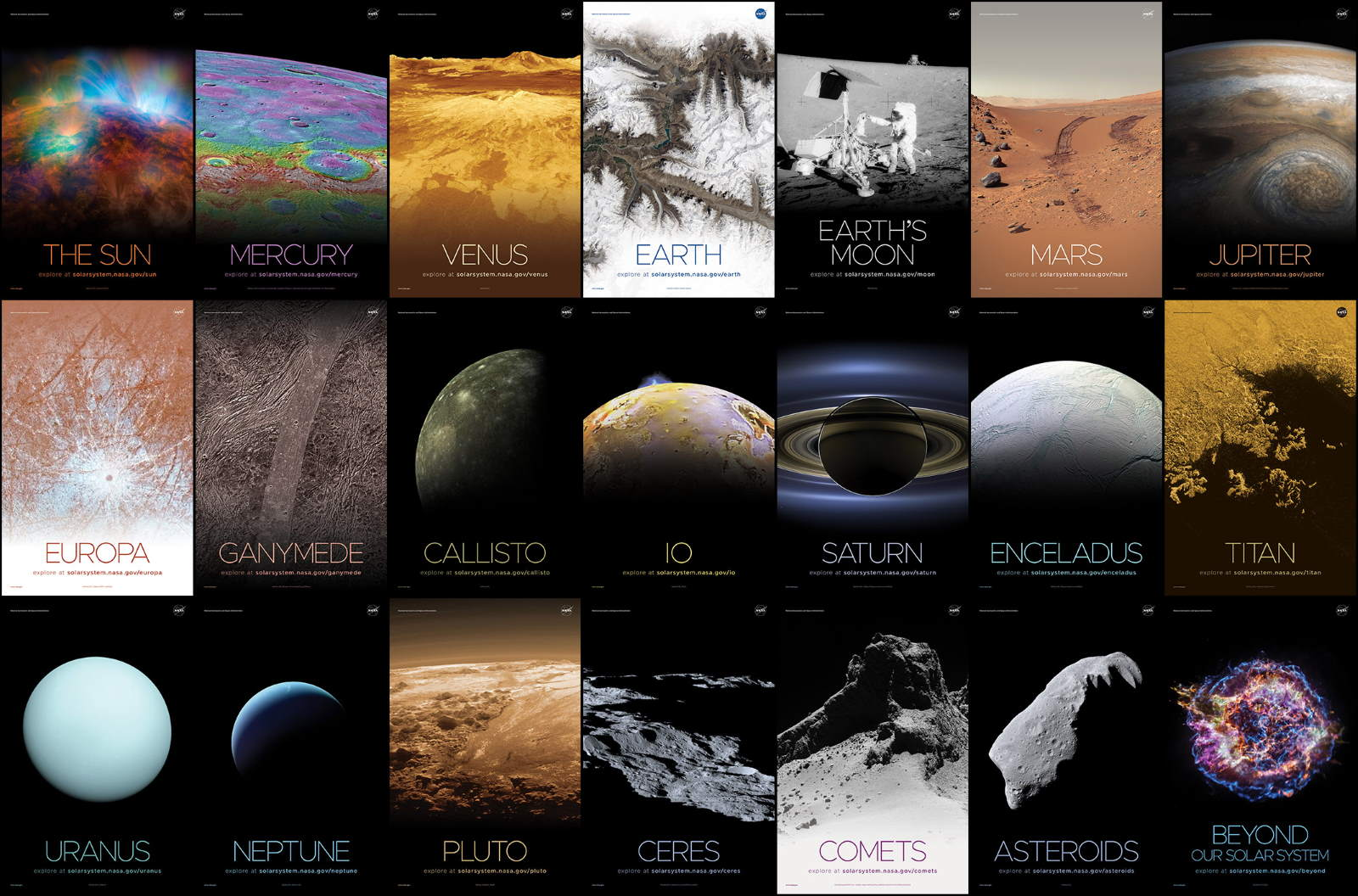 NASA Solar System and Beyond poster set