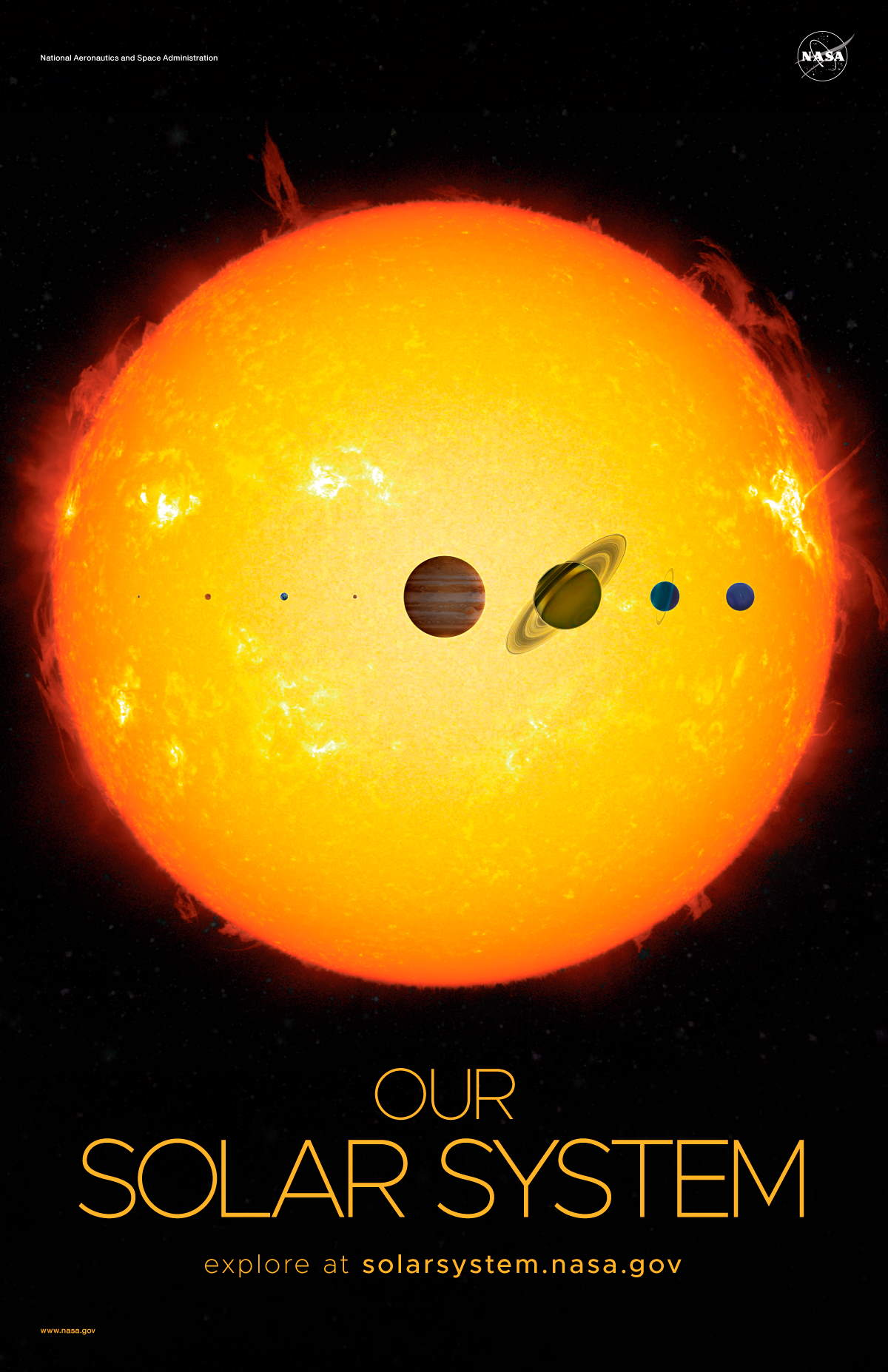 NASA Solar System and Beyond Poster Set - Solar System Version A