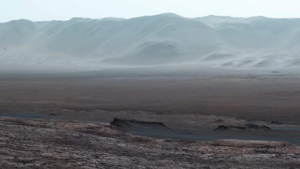 Gale crater by the Curiosity Rover