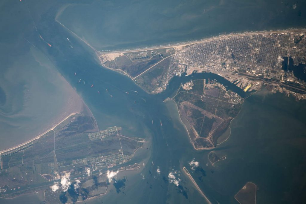 Most beautiful Earth photos from ISS in 2019 - Galveston and Bolivar Peninsula