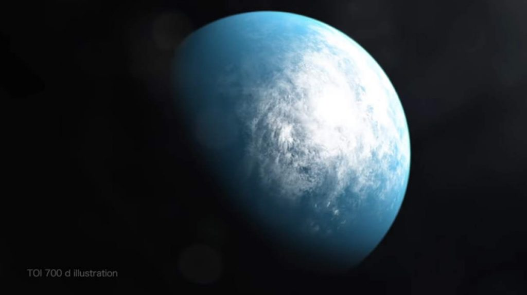 TESS first exoplanet discovery - TOI-700 d illustration by NASA