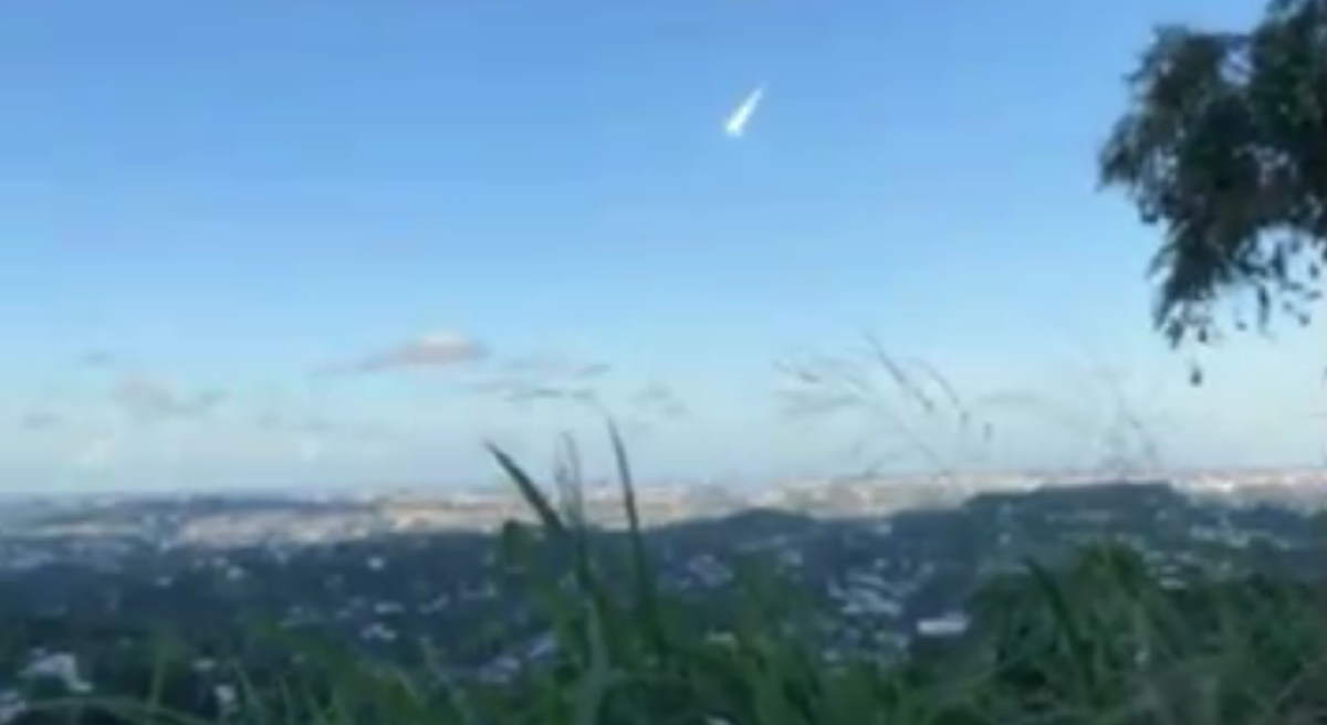 A meteor has just been observed in Puerto Rico