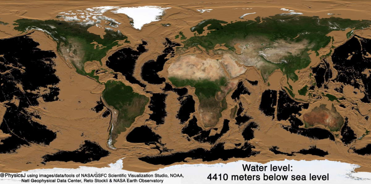 Draining Earth's oceans