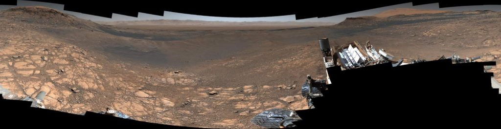 Highest-Resolution Mars Panorama by the NASA's Curiosity Rover (2019)
