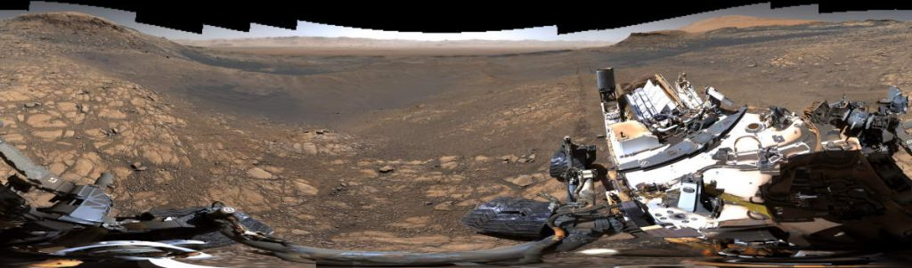 Highest-Resolution Mars Panorama by the NASA's Curiosity Rover (2019) - 2