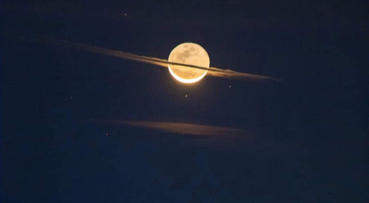 Moon looks like Saturn